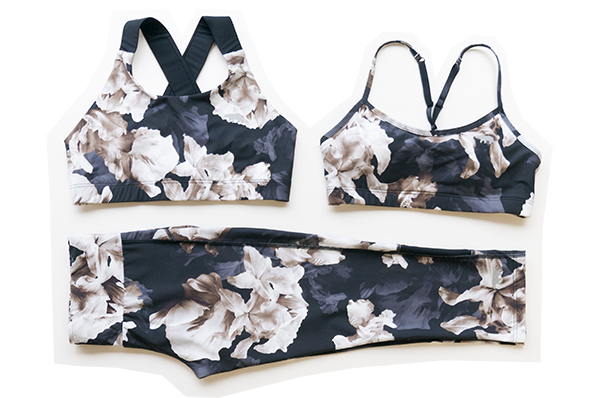 Running Bare Floral Crop and Sports Bra