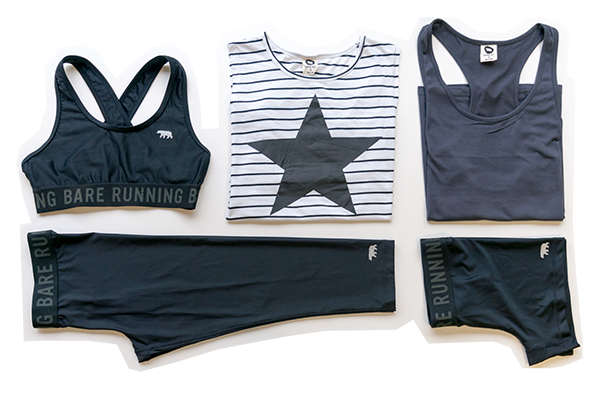 Running Bare Tees Tights Tanks