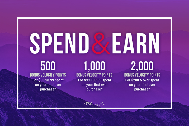 Velocity Spend and Earn