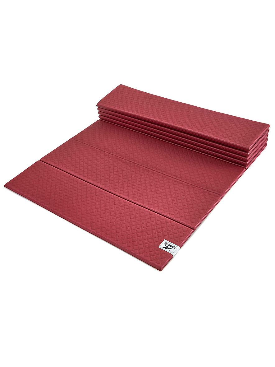 Reebok Folded Yoga Mat Rustic Wine 6mm