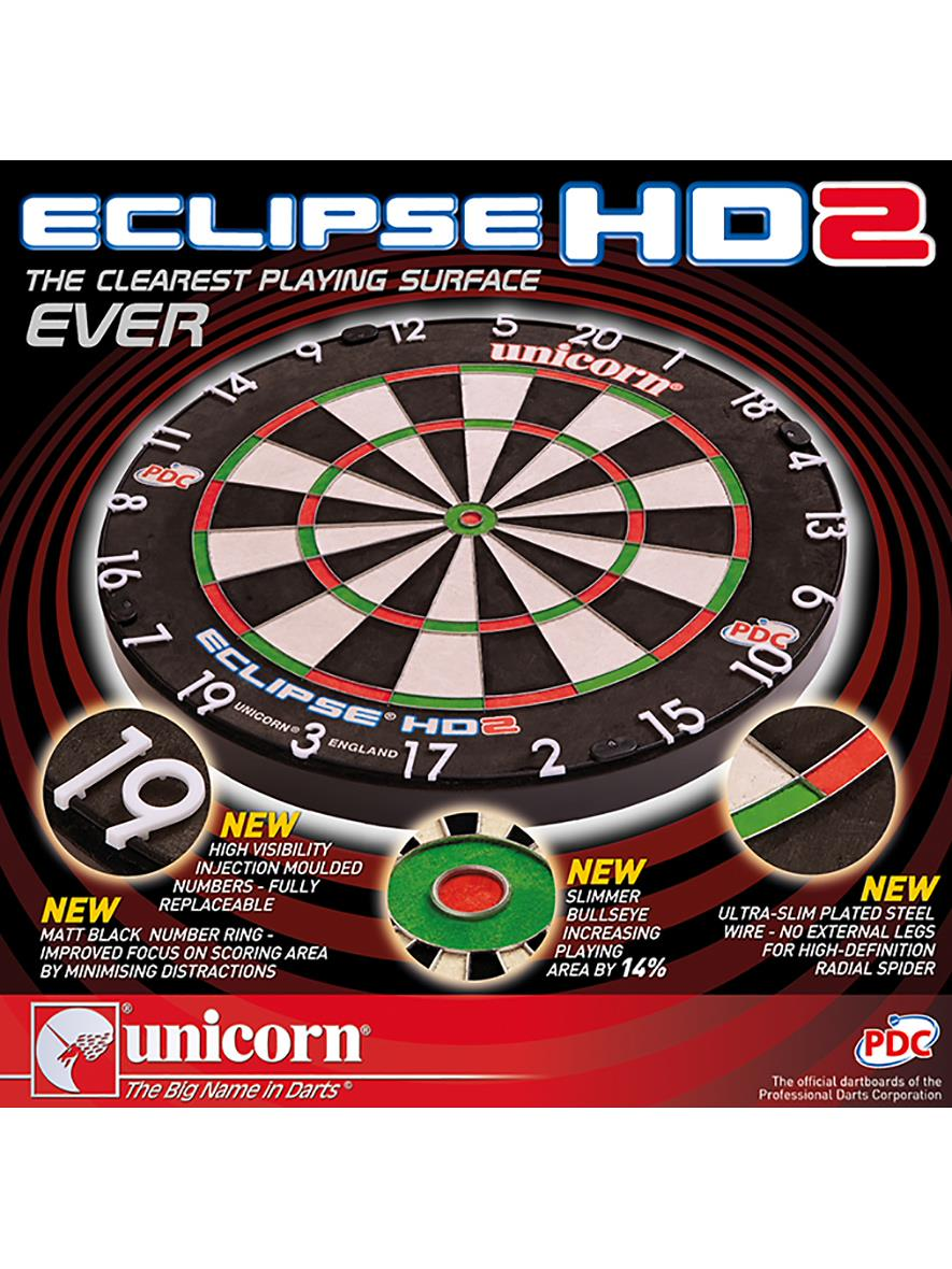Unicorn Darts Eclipse HD2 Dartboard