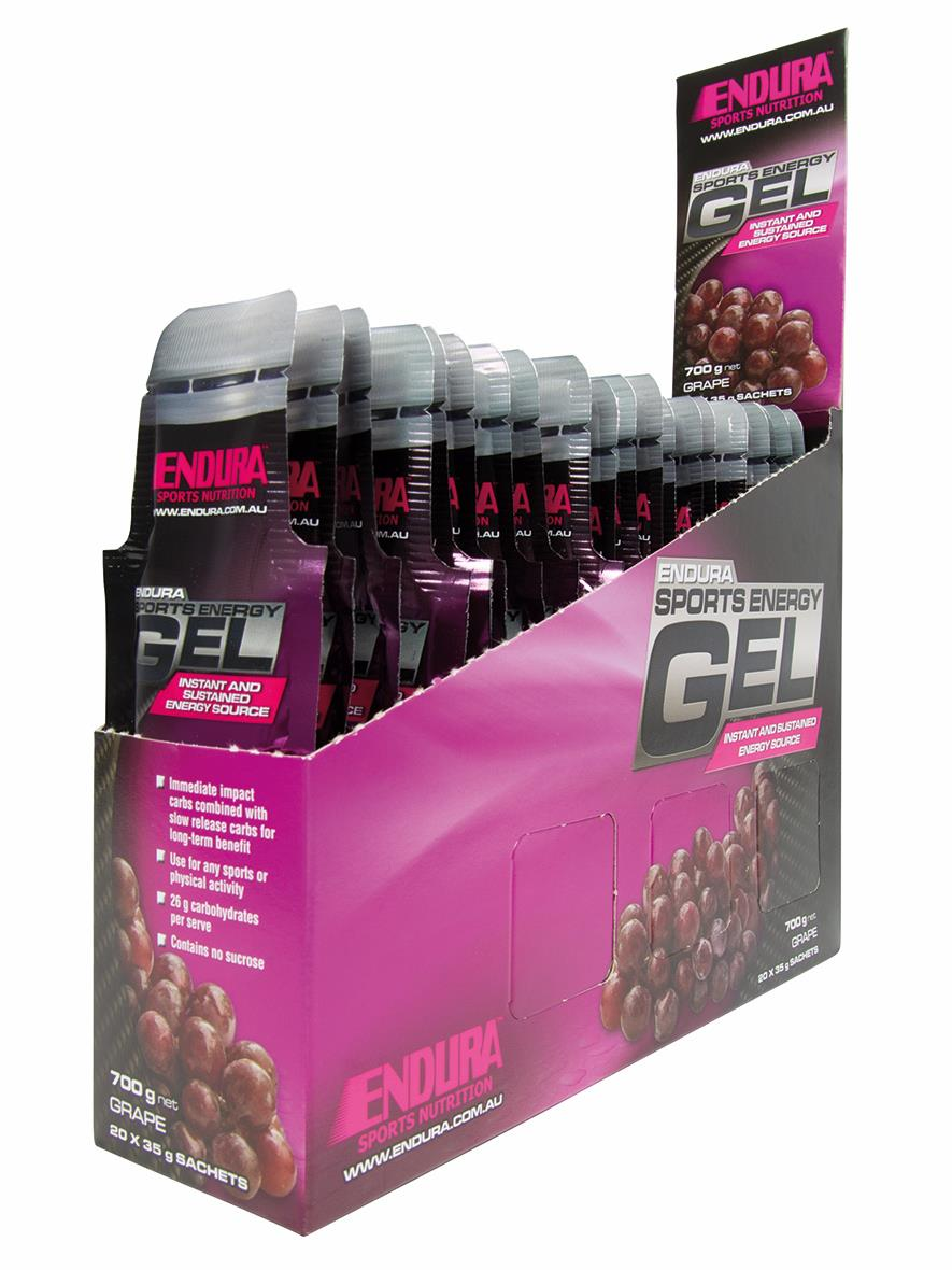 Endura Sports Energy Gel Grape 20 Pack