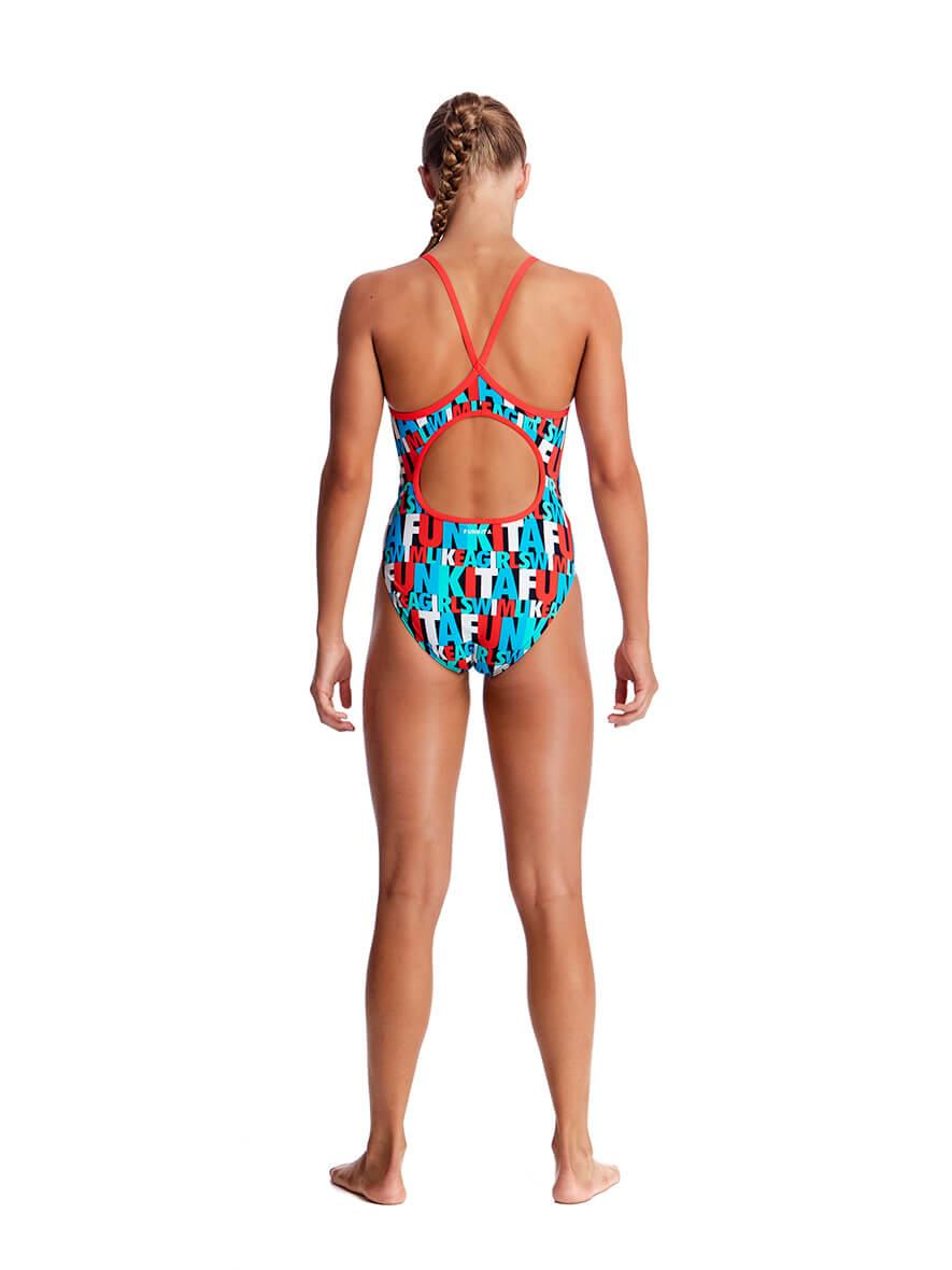 Funkita Girls Diamond Back One Piece Swim Squad