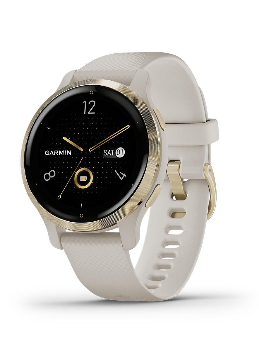 Garmin Venu 2S Light Gold Stainless Steel Bezel