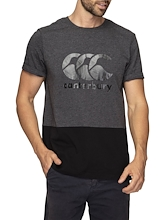Canterbury Colour Block Logo Tee Mens