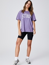 Cotton On NRL Storm Collegiate T Shirt Womens