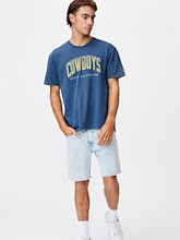 Cotton On NRL Cowboys Collegiate T Shirt Mens