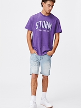Cotton On NRL Storm Collegiate T Shirt Mens