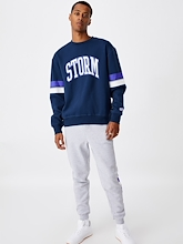 Cotton On NRL Storm Collegiate Crew Mens