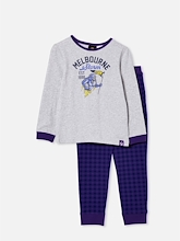 Cotton On NRL Storm Mascot LS Pyjama Set Kids