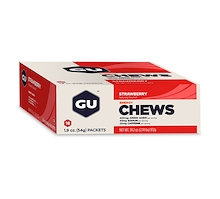 GU Energy Chews Strawberry 18 Pack