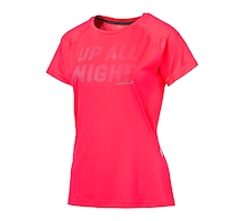 PUMA Womens NightCat Tee Fiery Coral