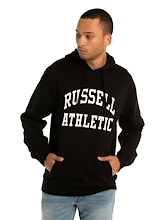 Russell Athletic Core Arch Hoodie Black Mens