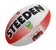 Steeden St.George Dragons Supporter Size 5 Ball