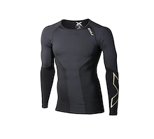 2XU Mens Elite Compression Long Sleeve Top