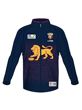 Brisbane Lions Youth Zip Thru Warm Up Fleece 2021