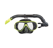 Land and Sea Clearwater Black Silicone Snorkel Set