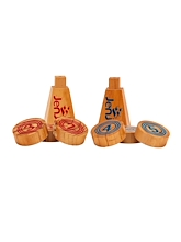 Jenjo Wooden Rollers Bowling Outdoor Lawn Game Set