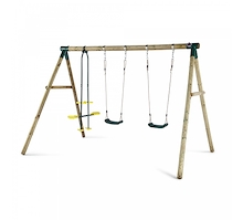 Plum Colobus Swing Set