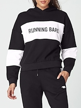 Running Bare Earn Stripes Cropped Hoodie