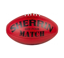 Sherrin Match Ball Size 4 Red Leather
