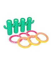 Sunnylife Inflatable Ring Toss Set Cactus