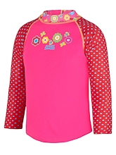Zoggs Toddler Girls Flora Zip Sun Top